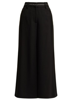 Peter Pilotto Piped satin culottes