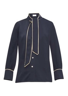 Peter Pilotto Pussy-bow satin blouse