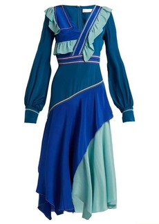 Peter Pilotto Ruffled silk crepe de Chine dress