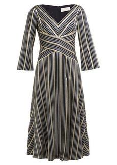 Peter Pilotto Striped lamé-jacquard dress