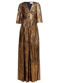 Peter Pilotto Striped silk-blend chiffon gown
