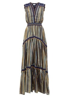 Peter Pilotto Striped tiered tulle dress
