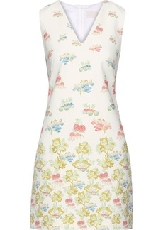 Peter Pilotto Woman Floral-print Cady Mini Dress Off-white