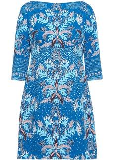 Peter Pilotto Woman Printed Cloqué Mini Dress Blue
