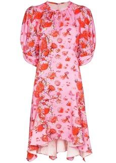 Peter Pilotto pleated floral-print mini dress