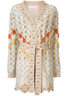 Peter Pilotto solitaire belted wrap cardigan