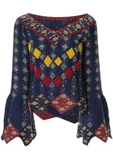Peter Pilotto solitaire diamond knit sweater