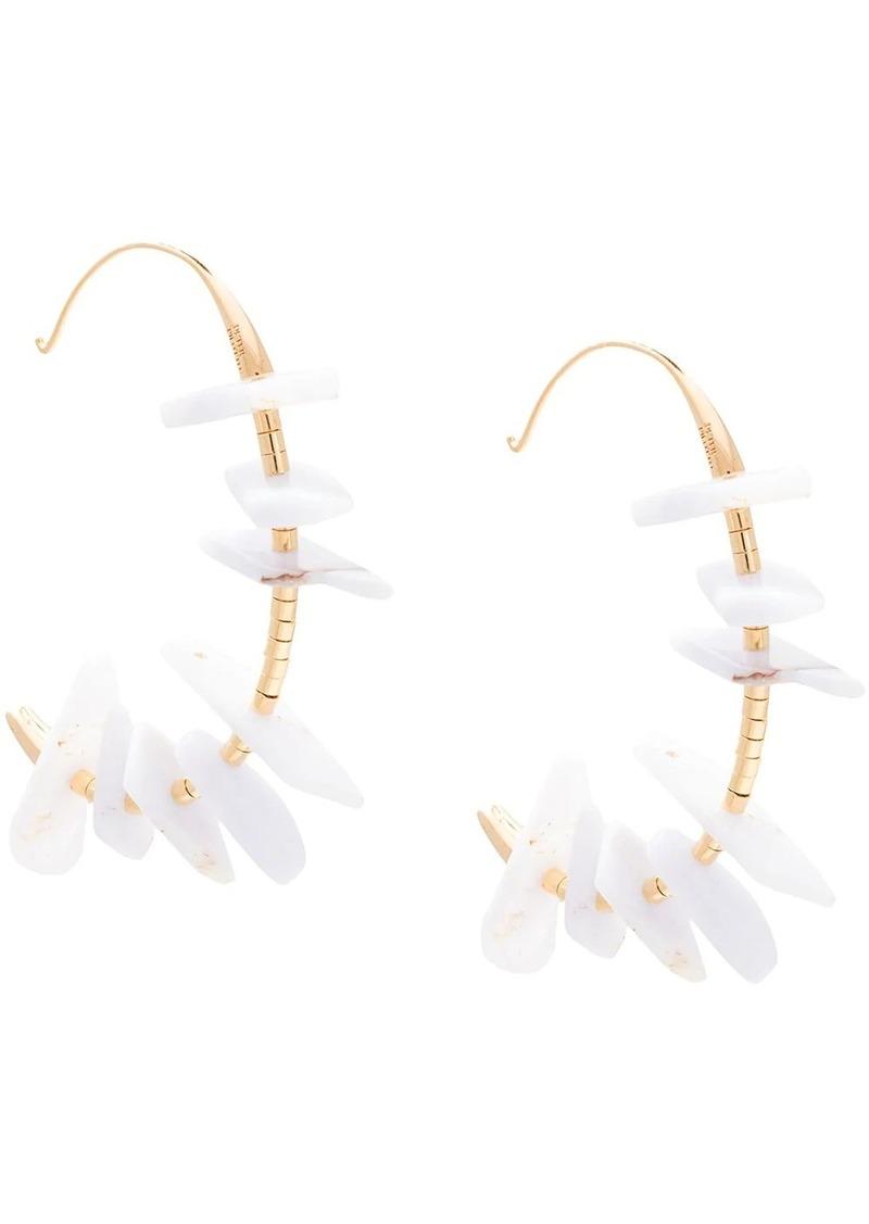 Peter Pilotto stone hoop earrings