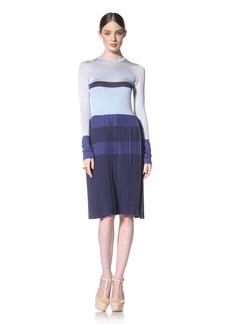 Peter Som Women's Long Sleeve Knit Dress  L