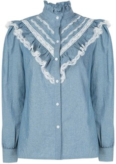 Petersyn Almira Chambray Lace Top