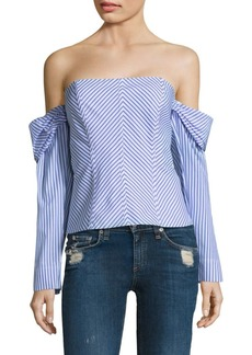 Petersyn Jack Striped Cotton Top
