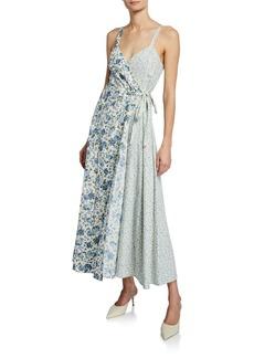 Petersyn Lisbeth Floral-Print Sleeveless Wrap Dress