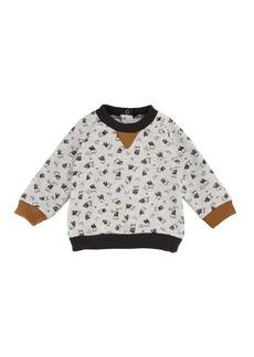 Petit Bateau Baby Boy Owl Long-Sleeve Sweatshirt