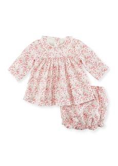 Petit Bateau Floral-Print Dress w/ Bloomers