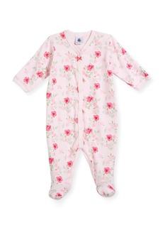 Petit Bateau Floral-Print Footie Pajamas