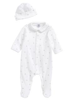 Petit Bateau Footie & Hat Set (Baby)