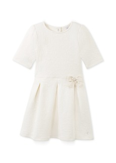 Petit Bateau Girls' Embroidered Jacquard Dress   Toddler