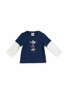 Petit Bateau Long-Sleeve Illusion Fish T-Shirt