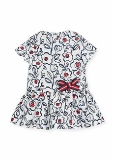 Petit Bateau Short-Sleeve Cotton Floral Dress