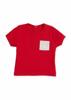 Petit Bateau Short-Sleeve Cotton Pocket T-Shirt