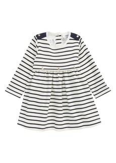 Petit Bateau Stripe Dress (Baby Girls)