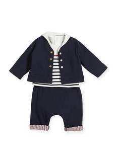 Petit Bateau Striped Cotton Layette Set