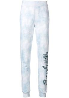Philipp Plein Beverly Hills crystal embellished track pants