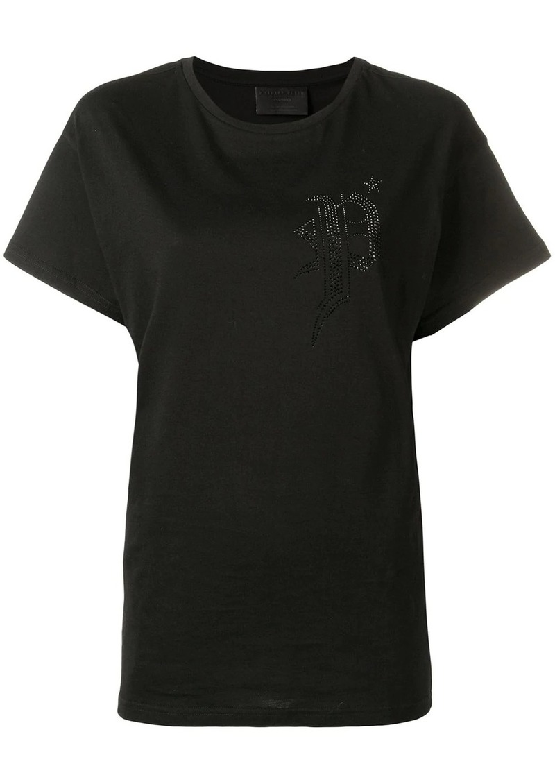 Philipp Plein black embellished T-shirt