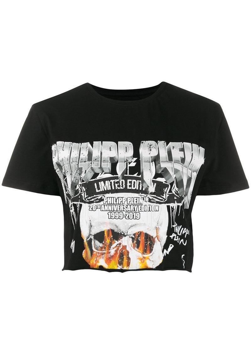 Philipp Plein cropped printed T-shirt