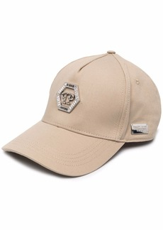 Philipp Plein crystal-embellished logo baseball cap