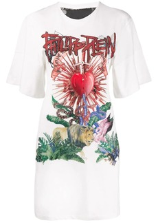 Philipp Plein Destroyed short dress