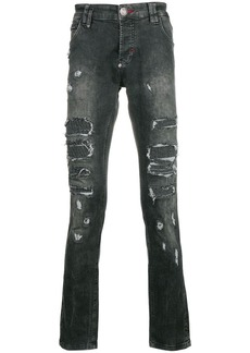 Philipp Plein distresses slim-fit jeans