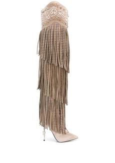 Philipp Plein embellished fringed boots