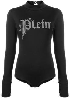 Philipp Plein embellished logo bodysuit