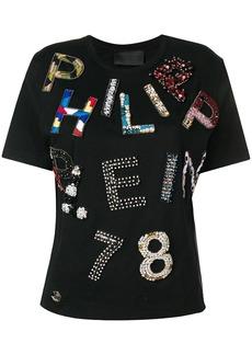Philipp Plein embellished logo T-shirt