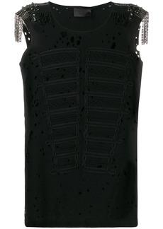 Philipp Plein embellished shoulder vest