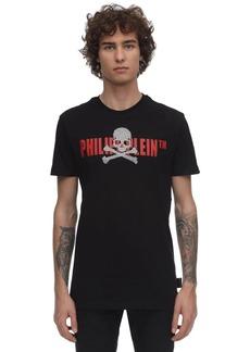 Philipp Plein Embellished Skull Jersey T-shirt
