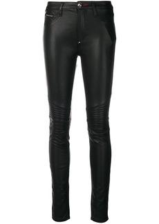 Philipp Plein faux leather skinny trousers