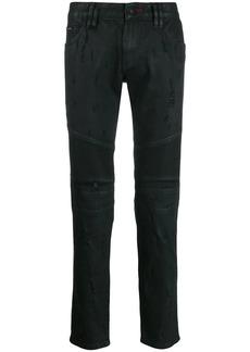 Philipp Plein fitted biker jeans