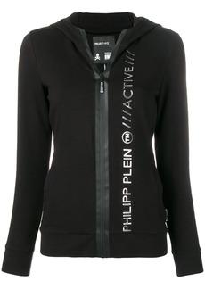 Philipp Plein fitted logo embossed hoodie