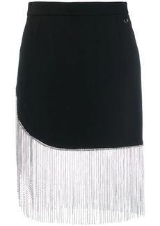 Philipp Plein fringed fitted skirt