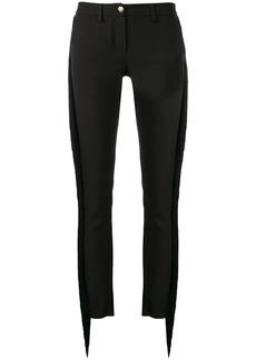 Philipp Plein fringed slim fit trousers