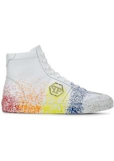 Philipp Plein hi-top painted sneakers