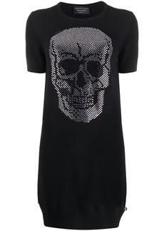 Philipp Plein knitted skull dress