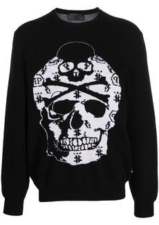 Philipp Plein knitted skull jumper