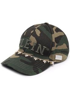 Philipp Plein logo-embroidered camouflage baseball cap