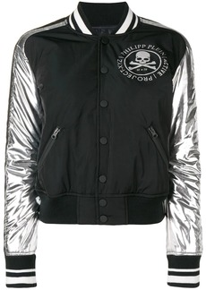 Philipp Plein logo print bomber jacket