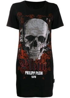 Philipp Plein maxi crystal skull T-shirt
