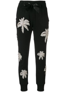 Philipp Plein palm tree embroidered track pants
