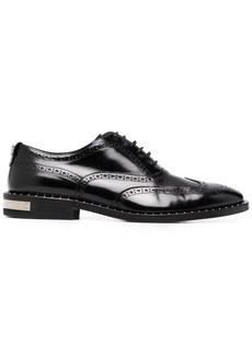 Philipp Plein leather studded-edge brogues